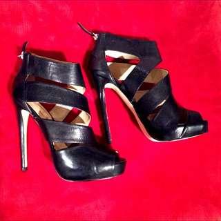 Black Siren Stilettos - Size 9