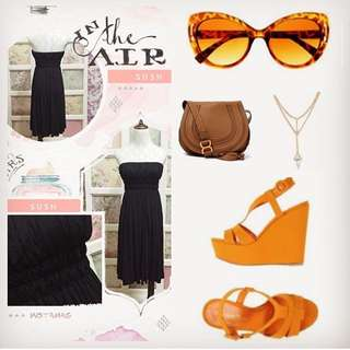 black midi tube dress
