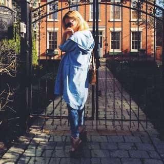 Denim long Jacket (URBAN OUTFITTERS)