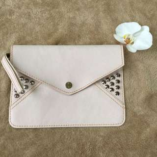 Clutch/Pouch pink studded