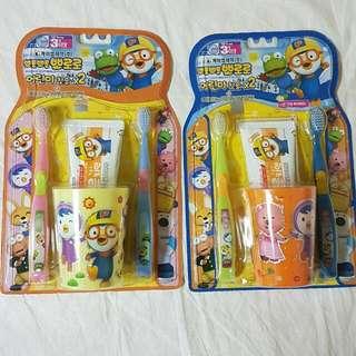 韓國Pororo寶露露兒童牙刷組 韓國製