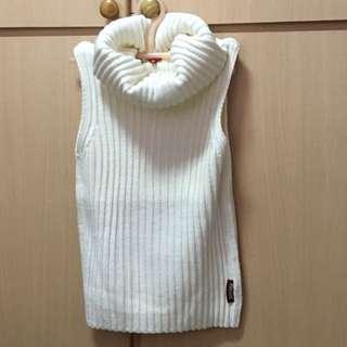 專櫃正品 高領 套頭 針織 背心毛衣