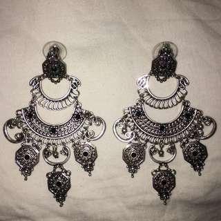 Sports Girl Silver Earrings