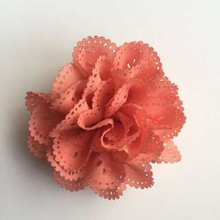 Orange Pin/Brooch/Hair Clip