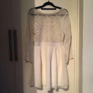 Little White Dress 8-10 Size