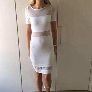 Mesh White Kookai Dress