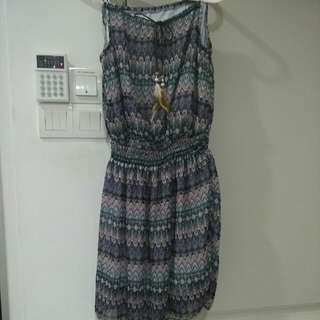 Dress With Adjustable Waist, Knee length