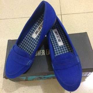 Flat Shoes Navy Blue Uk 38 Kecil