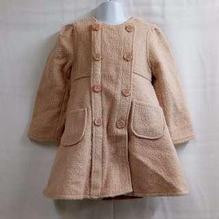 Pink ideal 日式公主風格保暖綁帶外套 女童裝(全新)