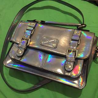Accessorize Hologram Iridescent Handbag