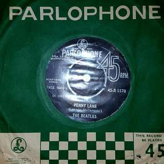 EP Record - THE BEATLES - Penny LANE -  - Strawberry Fields Forever - 1967 PRESS