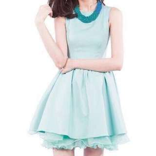 Mid-length Hepburn Premium Organza Mint Dress