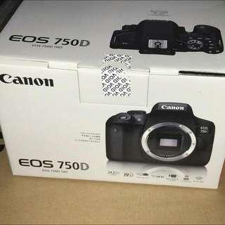 全新可談價格Canon EOS 750D 18-55mm 送單眼麥克風