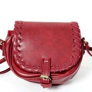 Mini Weave Bag in Red