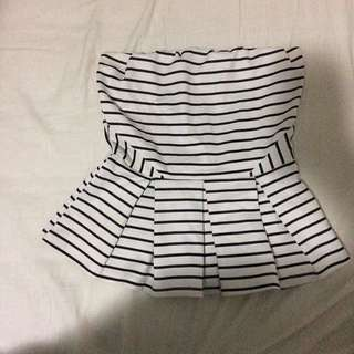 Stripes Peplum Tube