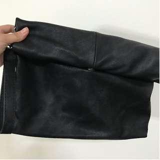 Foldable Clutch Bag in Black