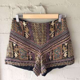 Zara Embroidered shorts - Great festival piece!