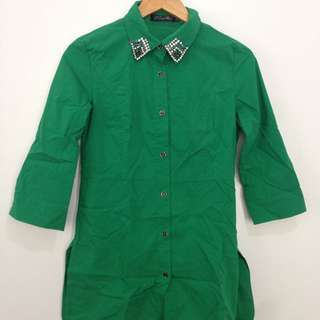 Green Button Down Shirt