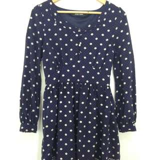 Red And Blue Polka Dots Dress