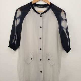 Horse Printed Sleeve Outerwear