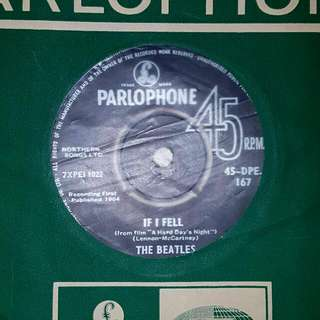 EP RECORD - THE BEATLES - IF I FELL - AND I LOVE HER - 1964 PRESS