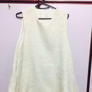 毛料無袖洋裝
