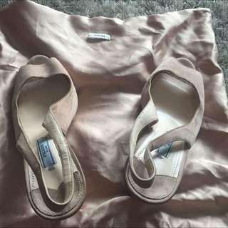 Reprice!! Prada Shoe Suede