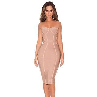House Of CB Strapless Bandage Dress