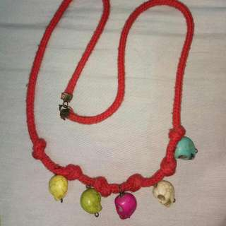 Skull Red Necklace