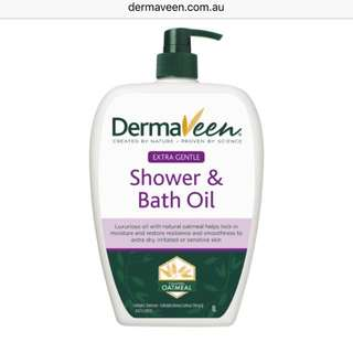 Dermaveen 1LITRE Extra Gentle Shower & Bath Oil