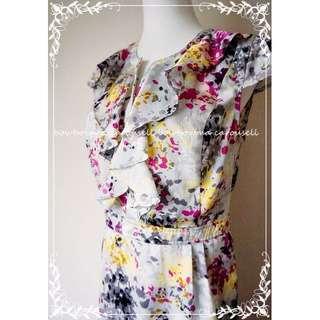 已售出 @sushan1009~專櫃全新!BCBG Silk Dress 精品抽象風格絲棉洋裝