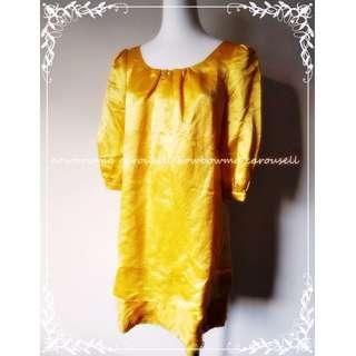 專櫃全新!iROO Silk Dress 夏姿風格絲質洋裝