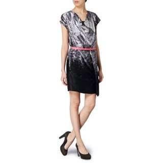 專櫃全新!monospace Silk Dress 抽象風格純絲洋裝