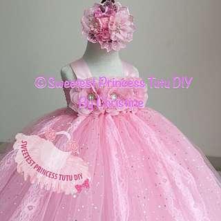 Lovely Sweet Pinkly Tutu Dress