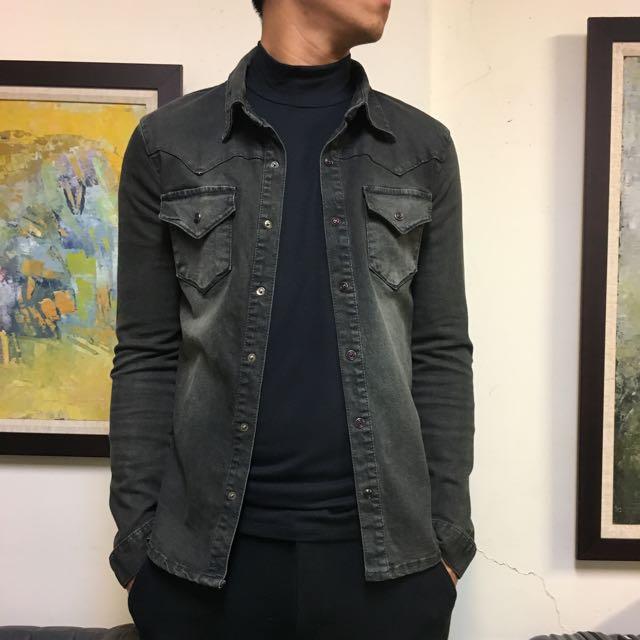 90%new DIGREEN牛仔襯衫外套 L size $500