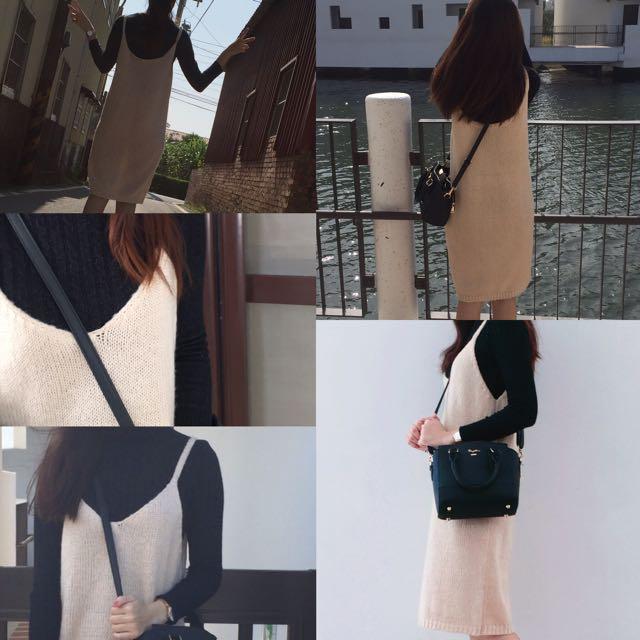 長版針織背心裙