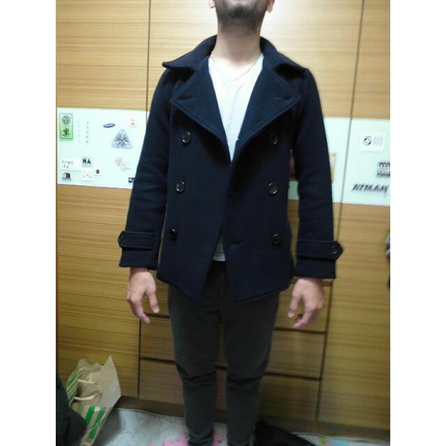 羊毛雙排扣外套