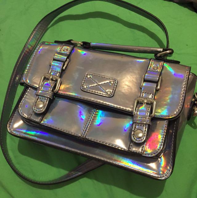 Accessorize Hologram Iridescent Handbag