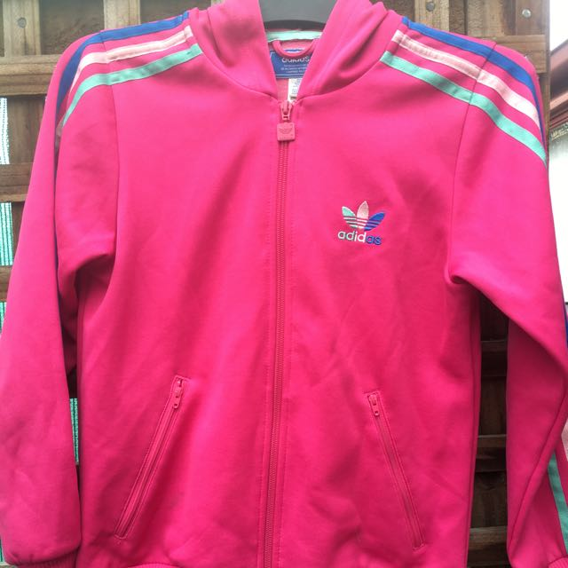 ADIDAS HOODED JACKET HOT PINK