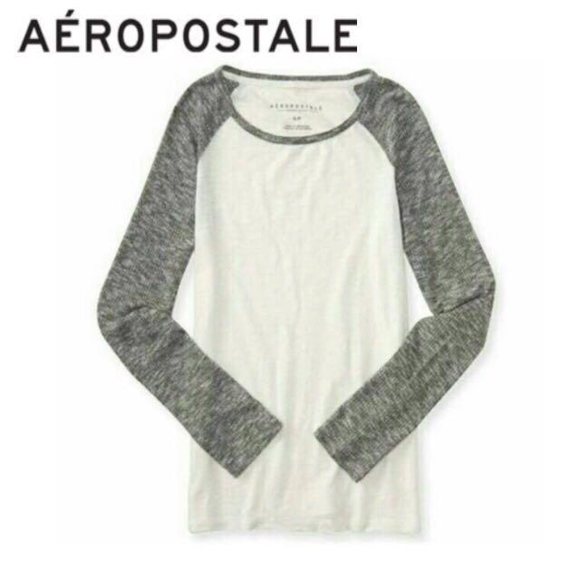 Aeropostale Raglan White/Grey Tee