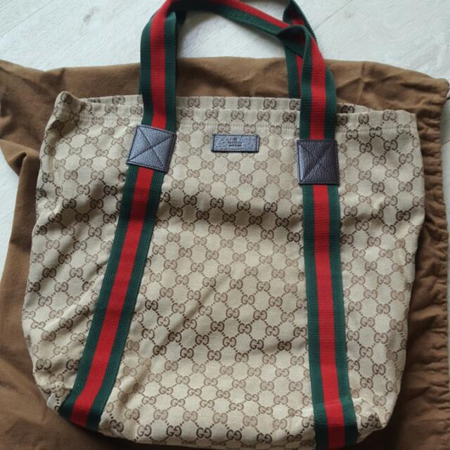 9d5e9d3bb742 Authentic Gucci Fabric Tote Bag, Women's Fashion, Bags & Wallets on ...