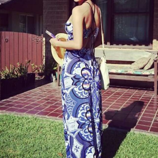 Bardot maxi Dress Size 6