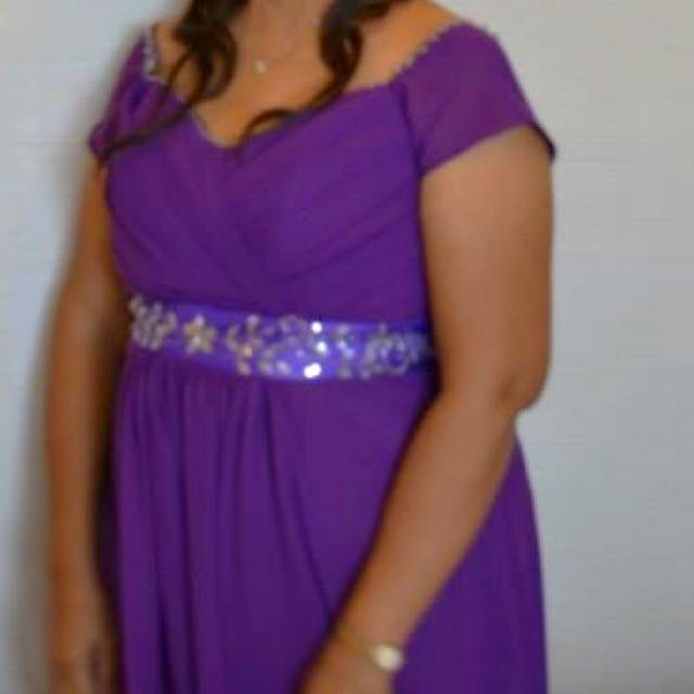 Blue Violet Gown