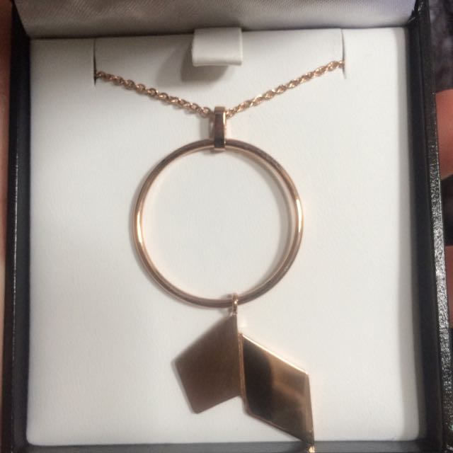 BRAND NEW ROSE GOLD PLATED NECKLACE