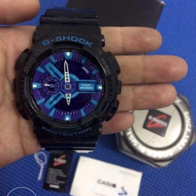 Casio G-Shock Men's Black Resin Strap Watch GA-110HC-1Ah