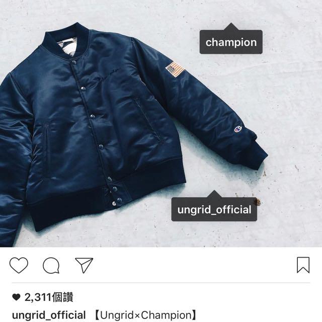 Champion X Ungrid 發熱保暖鋪棉飛行外套ma1