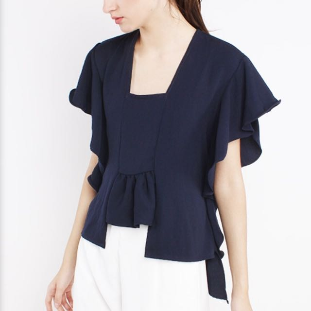 Cotton Ink Navy Giselle