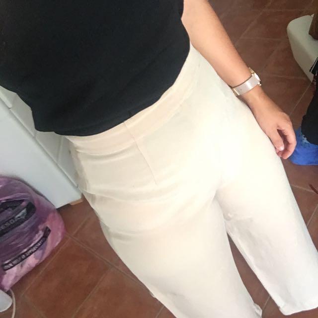 Cream High Waisted Pants