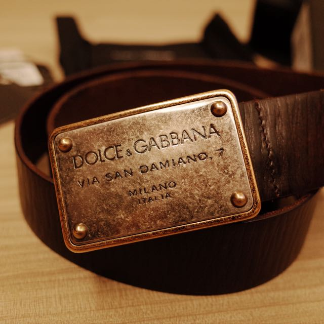Dolce & Gabbana 男用真皮皮帶