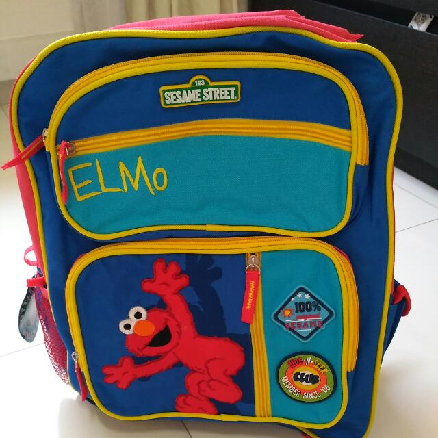 1c4219978b9a Elmo Sesame Street Kids School Bag Backpack